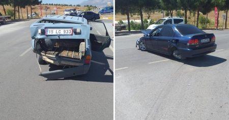Acıpayam'da trafik kazası: 1 yaralı
