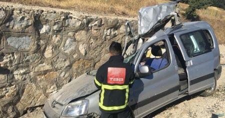 Amasya'da trafik kazası: 1 ölü, 1 yaralı