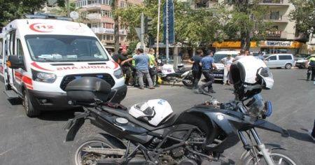 Aydın'da trafik kazası: 2 polis memuru yaralandı