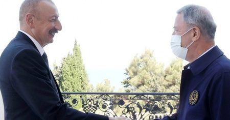 Bakan Akar, Azerbaycan Cumhurbaşkanı İlham Aliyev tarafından kabul edildi
