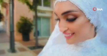Beyrut'ta bir çift düğün fotoğrafı çektirdiği sırada patlamaya yakalandı