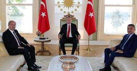 Cumhurbaşkanı Erdoğan ve KKTC Başbakanı Tatar'dan önemli görüşme