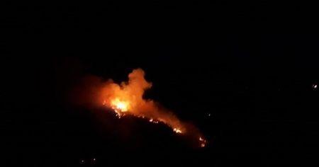 Durağan'da orman yangını yeniden alevlendi