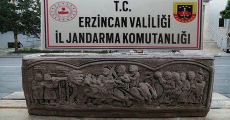 Erzincan'da lahit mezarını satmaya çalışan 5 kişi yakalandı