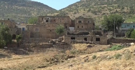 Gercüş'te 11 ev karantinaya alındı