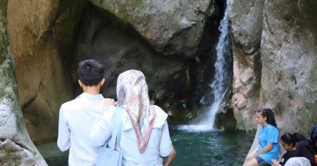 Her yıl Arap turistlerle dolup taşan şelale boş kaldı