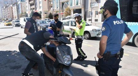İçişleri Bakanlığınca ülke genelinde 4643 noktada eş zamanlı motosiklet uygulaması