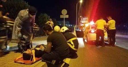 Kaldırıma çıkan motosikletten düşen 1 kişi öldü, 1 kişi yaralandı