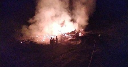 Kastamonu'daki yangında 500 balya saman küle döndü