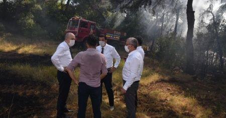 Korudağ'da ormanlık alanda çıkan yangın korkuttu