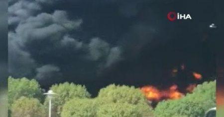 Kuveyt'te akaryakıt tankeri alev alev yandı