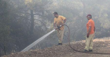 Menderes'te çıkan yangın sonrasında 1 şüpheli yakalandı