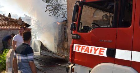 Metruk bina yangını korkuttu