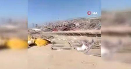 Patlama sonrası Beyrut Limanı'na ait yeni görüntüler ortaya çıktı