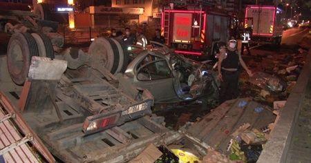 Pendik'te feci kaza, çok sayıda yaralı var