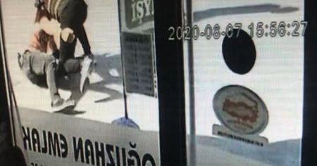 Saldırganın, polisin ayağını kırdığı anların görüntüleri ortaya çıktı