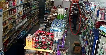 Şampuan hırsızı kamerada