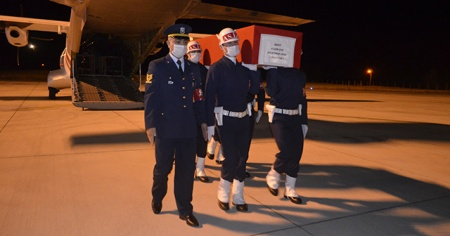 Şehit Uzman Çavuş Süleyman Ural'ın cenazesi Samsun'a getirildi