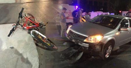 Sultangazi'de otomobil bisikletli çocuğa böyle çarptı: 2'si ağır 7 yaralı
