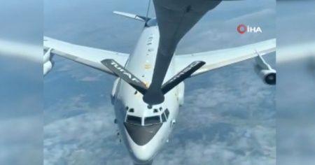 Türk Hava Kuvvetleri, NATO'ya ait uçağa yakıt ikmali yaptı