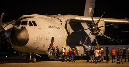 Türkiye'den Lübnan'a yardım malzemeleri taşıyan askeri nakliye uçağı havalandı