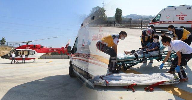 8 yaşındaki çocuk için ambulans helikopter sevk edildi