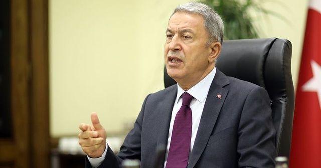 Bakan Akar'dan Yunan gazetesine tepki: Kara bir leke olarak kalacak