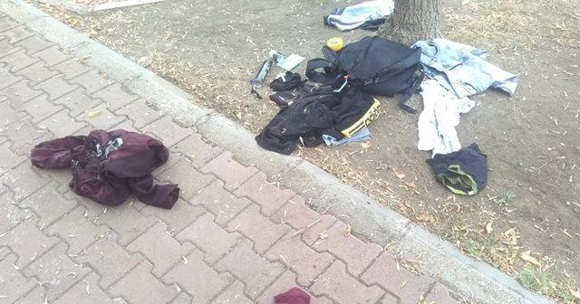 Bolu'da çocuk parkına bırakılan şüpheli çanta fünyeyle patlatıldı