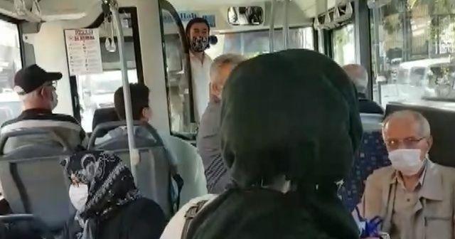 Bursa'da otobüs şoförü ile yolcu arasındaki mesafe tartışması