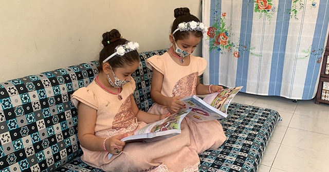 """İkiz kız kardeşler """"Suriye"""" ve """"Türkiye"""", isimleriyle dikkati çekiyor"""