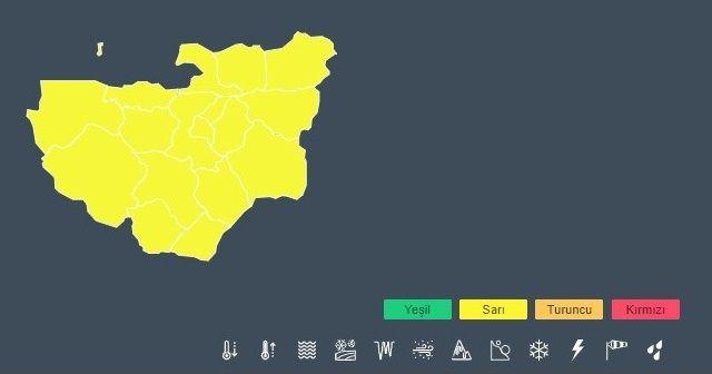 Meteoroloji'den Bursa için 'sarı' uyarı