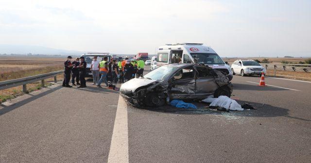TEM'de feci kaza: 1 ölü, 1 yaralı