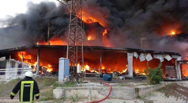Tokat'ta AVM yangını