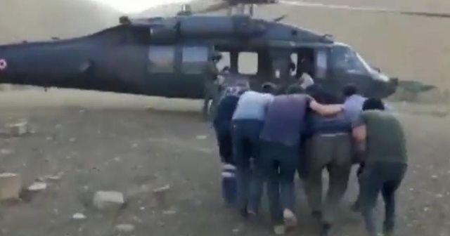 Yaylada rahatsızlandı, askeri helikopter hastaneye yetiştirdi