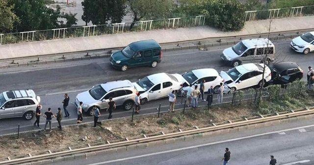 Zincirleme kazada 7 araç birbirine girdi