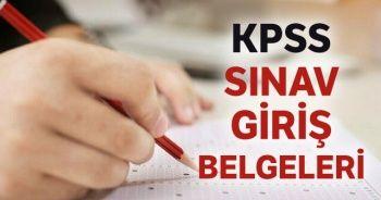2020 KPSS sınav giriş belgeleri erişime açıldı mı? ÖSYM'den önemli duyuru (KPSS sınav giriş belgesi alma)
