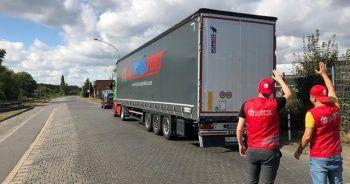 Almanya'dan bir tır yardım malzemesi Bosna-Hersek'e doğru yola çıktı