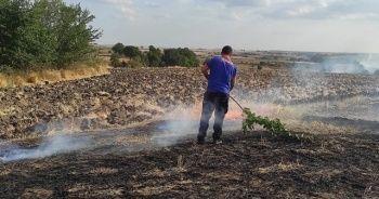 Anız yangını geniş alanı etkiledi, ekipler seferber oldu