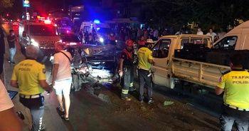 Aydın'da araçlar çarpıştı, 3 kişi yaralandı