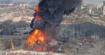 Beyrut Limanı'ndaki yangın hala söndürülemedi