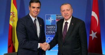 Cumhurbaşkanı Erdoğan, İspanya Başbakanı Pedro Sanchez ile görüştü