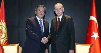 Cumhurbaşkanı Erdoğan Kırgız mevkidaşı Ceenbekov ile görüştü