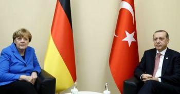 Cumhurbaşkanı Erdoğan, Merkel ile Doğu Akdeniz'i görüştü