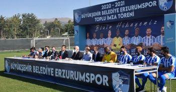 Erzurumspor yeni transferlerini tanıttı