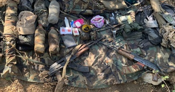 Irak'ın kuzeyinde terör örgütü PKK'ya ait silah ve mühimmat ele geçirildi