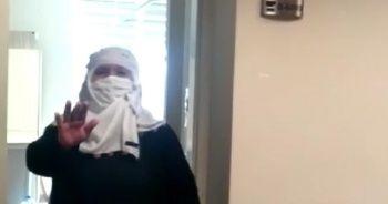 Kovid-19'u yenen 74 yaşındaki kadın hastaneden alkışlarla uğurlandı