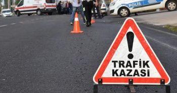 Sınav dönüşünde adliye çalışanları kaza yaptı