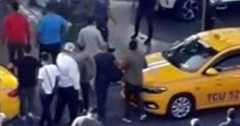 Taksi Durağı'ndaki silahlı çatışma anı amatör kamerada