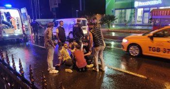 Yağış nedeniyle kayganlaşan yolda zincirleme kaza: 6 yaralı