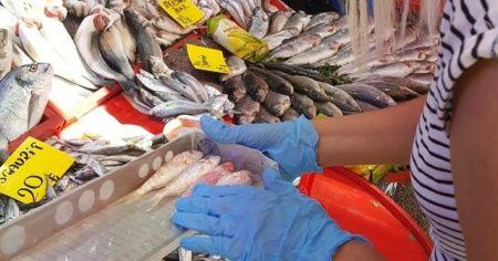 Balık tezgahları denetimden geçti